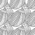 Black White Seamless Pattern With Decorative Sea Shells For Coloring Royalty Free Stock Images - 82808589
