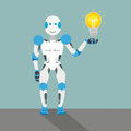 Cartoon Robot Bulb Stock Images - 82818184