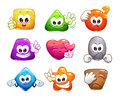 Funny Colorful Glossy Shape Characters Royalty Free Stock Image - 82829486