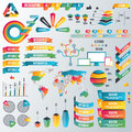 Infographic Elements Collection - Business Vector Illustration In Flat Design Style For Presentation, Booklet, Website Royalty Free Stock Photo - 82829575
