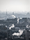 Smog - City Air Pollution. Unclear Atmosphere Polluted By Smoke Rising From The Chimneys. Stock Photos - 82829603