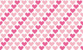 Valentine Seamless Polka Dot Pattern With Hearts.   Royalty Free Stock Photos - 82830348