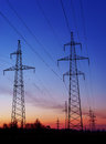 High Voltage Electric Transmission Tower Energy Pylon. Royalty Free Stock Photos - 82832488