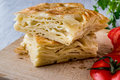 Su Boregi / Turkish Patty With Tomatoes. Stock Image - 82840681