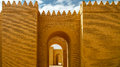 Gate Of Partially Restored Babylon Ruins, Hillah Iraq Stock Photo - 82859380