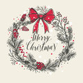 Hand Drawn Christmas Card. New Year Trees With Confetti. Royalty Free Stock Photo - 82871665