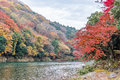 Autumn Colors Season In Arashiyama, Kyoto, Japan Royalty Free Stock Image - 82873236