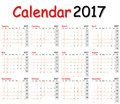 12 Months Of Calendar 2017. Stock Photography - 82878982