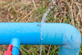 Water Leaking From Connection Joint Of Pipes System. Royalty Free Stock Photos - 82881058