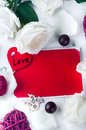 White Rose And Red Heart Royalty Free Stock Images - 82882139