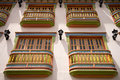 Colourful Colonial Balconies In Guatape Stock Image - 82894881