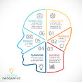 Vector Brain Linear Infographic. Template For Human Head Diagram, Artificial Intelligence Graph, Neural Network Stock Photos - 82898823