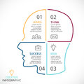 Vector Brain Linear Infographic. Template For Human Head Diagram, Artificial Intelligence Graph, Neural Network Royalty Free Stock Image - 82899946
