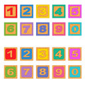 Numbers Wooden Blocks Stock Images - 82909664