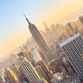 New York City Manhattan Skyline In Sunset. Stock Photography - 82916122