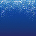 Falling Snow On A Blue Background. Abstract White Glitter Snowflake Background.  Stock Photo - 82920860