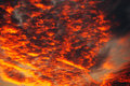 Apocalyptic Orange Clouds In Winter Sunset Stock Photo - 82921130