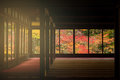 Temple Interior With Autumn Foliage Color, Kyoto Stock Image - 82932571