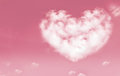 Beautiful Clouds In Heart Shape On Pink Sky. Love And Valentine Stock Photos - 82937983