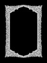 Old Decorative Silver Frame - Handmade, Engraved - Isolated On B Stock Images - 82970964