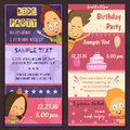 Kids Party Invitation Banners Stock Photo - 82984070