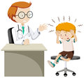 Little Boy With Headache Visiting Doctor Royalty Free Stock Images - 82993469