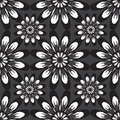 Seamless Pattern With Flowers. Vintage Texture. Monochrome Backdrop. Royalty Free Stock Photo - 83056015
