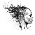Pretty African American Girl. Beautiful Black Woman. Profile View. Hand Draw Vector Illustration Stock Image - 83057291