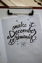 Make It A December To Remember Calligraphic Background Stock Images - 83071594