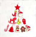 Christmas Tree Decorations Gift Bags Holidays Background Stock Image - 83090811