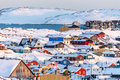 Nuuk City Covered In Snow With Sea And Mountains Stock Image - 83098841