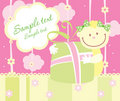 Baby Arrival Announcement Card Stock Images - 8316344