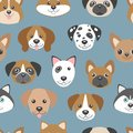 Vector Seamless Pattern With Cute Cartoon Dog Puppies. Royalty Free Stock Images - 83106419