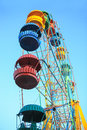 Ferris Wheel With Colorful Cabins Stock Image - 83113171