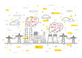 Air Pollution Vector Illustration Stock Images - 83115144