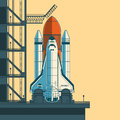 Vector Illustration Rocket Is Ready For Launch. Stock Photography - 83120912
