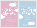 Baby Shower Set. Cute Invitation Cards For Baby Shower Party. Royalty Free Stock Photo - 83152215