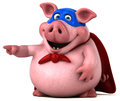 Fun Pig - 3D Illustration Royalty Free Stock Images - 83177009