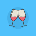 Pair Of Wine Glasses Icon Royalty Free Stock Photo - 83178315