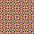 Seamless Pattern In Christmas Traditional Colors. Repeated Squares And Rhombuses Bright Ornamental Abstract Background. Stock Photo - 83179500