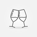 Two Glasses Of Wine Line Icon Royalty Free Stock Photo - 83183695