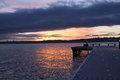 A Partial View Of A Pier On A Lake In A Winter Sunset At Waverly Beach Park, Kirkland, Washington Stock Photo - 83203740