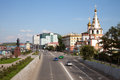 View Of The Lower Embankment In Irkutsk. Royalty Free Stock Images - 83207339