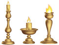 Antique Bronze Candleholder 3d Golden Ecclesiastical Cup And Torch Vintage Royalty Free Stock Photo - 83207425
