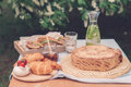 Laid Table On A Picnic Royalty Free Stock Photo - 83212345