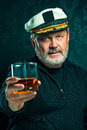Portrait Of Old Captain Or Sailor Man In Black Sweater Royalty Free Stock Photo - 83213585