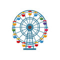 Ferris Wheel Icon, Cartoon Style Stock Photos - 83213893