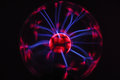 Electricity Fire-ball. Photo Of Electric Waves. Royalty Free Stock Image - 83221126