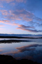 Clouds Reflecting In Loch Dunvegan In Scotland Stock Image - 83227771