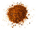 Chili, Red Pepper Flakes, Corns And Chili Powder Royalty Free Stock Image - 83241156